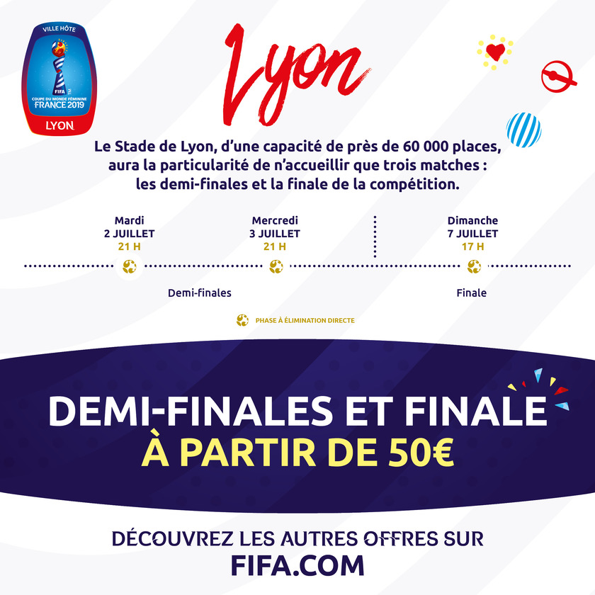 Coupe Du Monde Feminine 2019 Calendrier Stade.Coupe Du Monde Feminine France 2019 Billetterie En