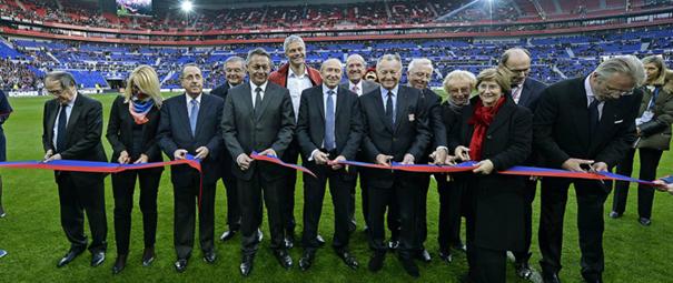 Groupama Stadium stade Lyon OL 5 ans inauguration