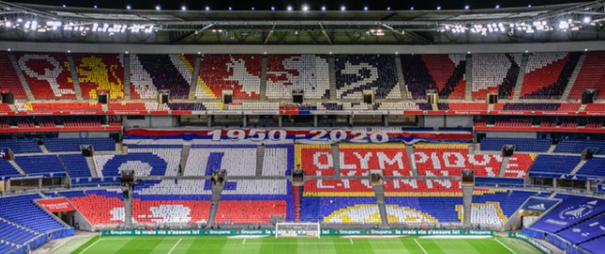 Groupama Stadium stade Lyon OL 5 ans tifo derby 2020